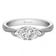 Skye Marquise Solitaire Set with 0.75ct H/I I1 Center Stone