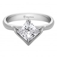 Sanday Square Princess Cut Solitaire set with 0.50ct Prncess Cut Center
