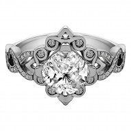 STIRLING CUSHION ENGAGEMENT RING