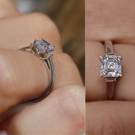 Allasdale Asscher Cut Engagement