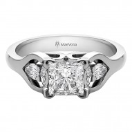 Eday 1.0ct Square Princess Engagement with Pear Shaped and Marquise Stones