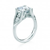 Eday 2.0ct Square Princess Pave Engagement with Pear Shaped and Marquise Stones