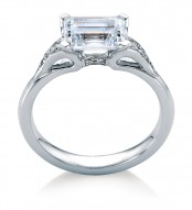 Eorsa Emerald Cut Pave Engagement