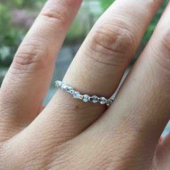 Lanark Curved Round Diamond Band