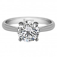 Westray Round Solitaire with 0.75ct J-SI2 Lab-Created Center Stone