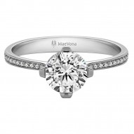 Texa Round Solitaire with 0.50ct J-SI2 Lab-created Round Center Stone