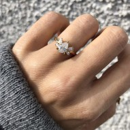Crail Engagement 1.25ct Pear Shaped Center