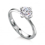 Texa Round Solitaire with 1.0ct J-SI2 Lab-create Round Center Stone