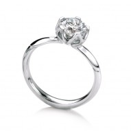 Bluebell Round Solitaire with 0.75ct J-SI2 Lab-created Round Center Stone