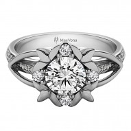 Primrose Round Pave Engagement