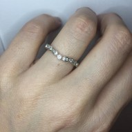 Moffat Curved Diamond Band