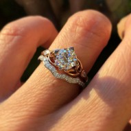 Peebles Round Engagement Ring