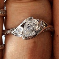 Poppy Pave Engagement with an 0.81ct G-VVS2 Lab-created Pear Center Stone