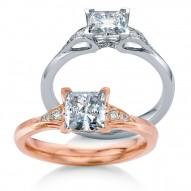 Eorsa  Square Princess Diamond Engagement