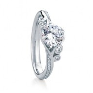 Fern Pave Round Engagement with 0.76ct I-SI2 Lab-created center