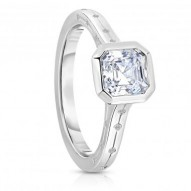 Kinross Bezel Set Asscher Engagement