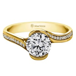 Perth Round Pave Engagement