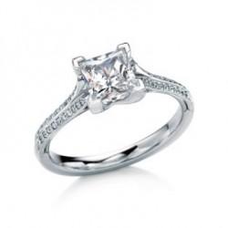 Tahay Square Princess Pave Engagement