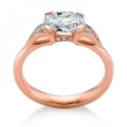 EORSA PAVE OVAL ENGAGEMENT