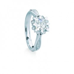 Snowdrop Cushion Halo Pave Engagement